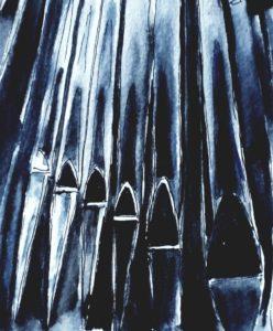 Logo des Orgelbauvereins an der St. Jürgen Kirche Heide