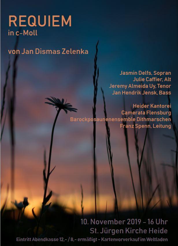 Plakat für Konzert der Heider Kantorei