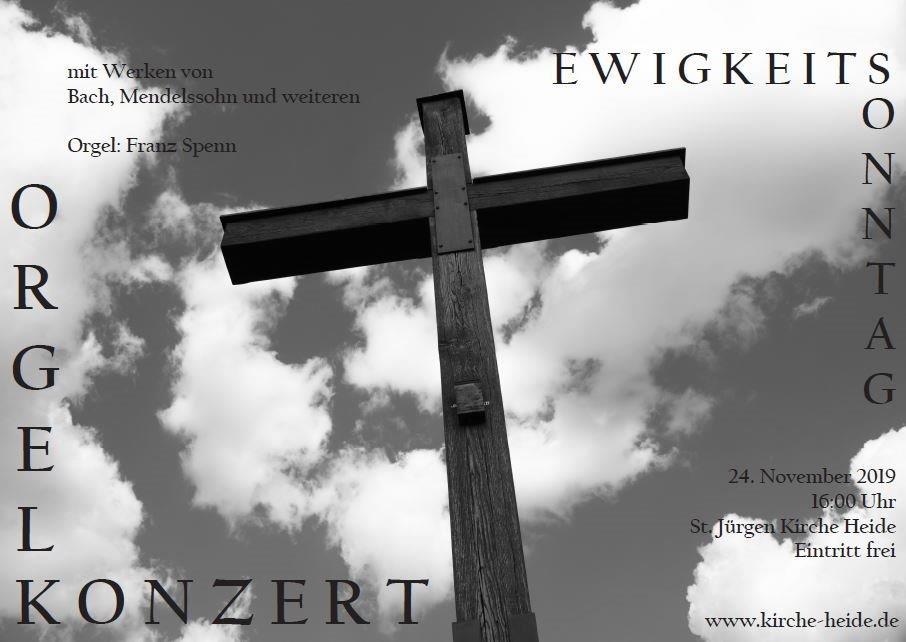 Orgelkonzert am Ewigkeitssonntag in der St Jürgen Kirche Heide