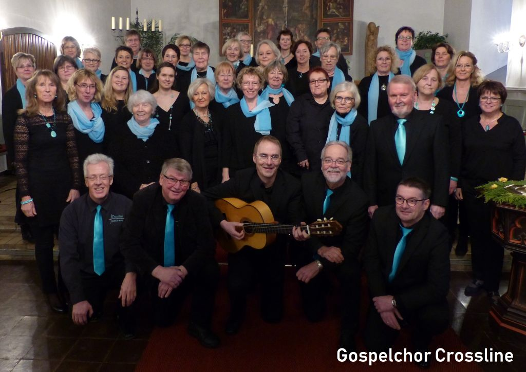 Gruppenbild des Gospelchors Crossline