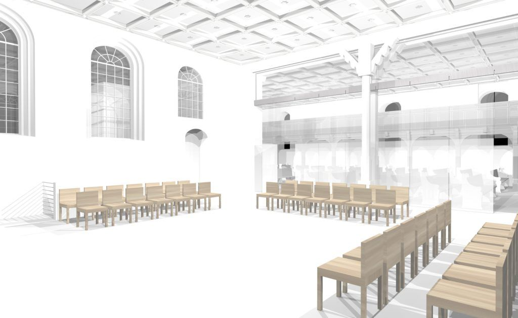 Neue Mitte Entwurf der Architekten - das Südschiff