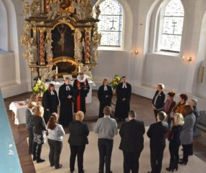 Bild des Kirchenvorstands in der St. Jürgen Kirche Heide