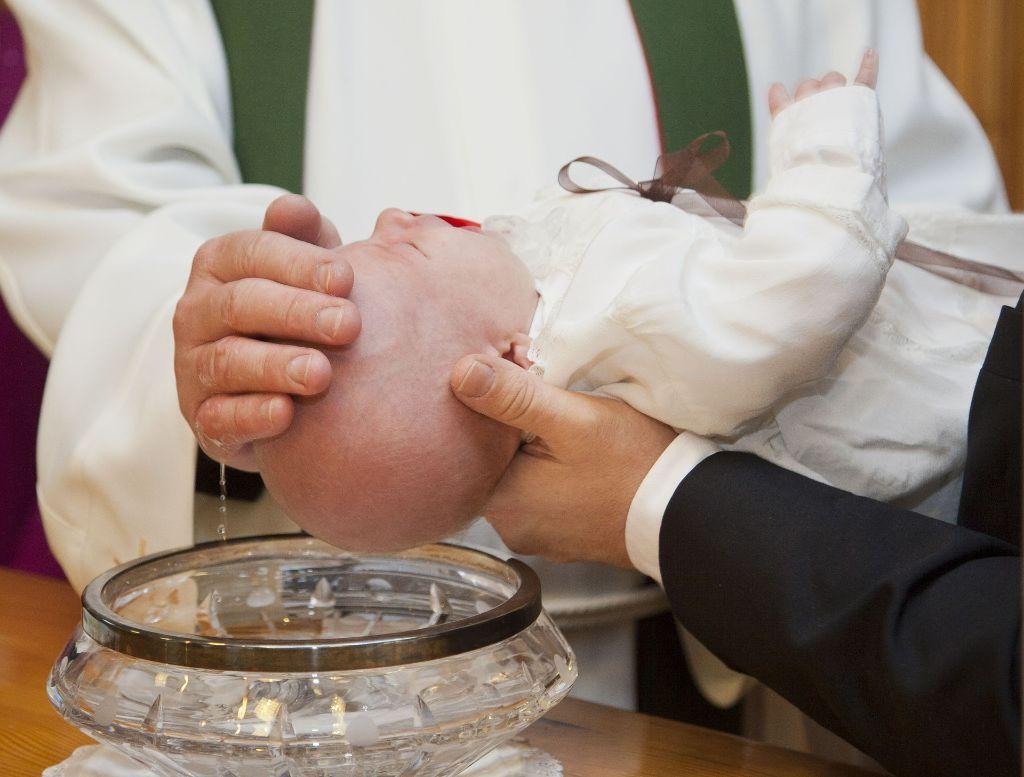 Bild der Taufe eines Babys