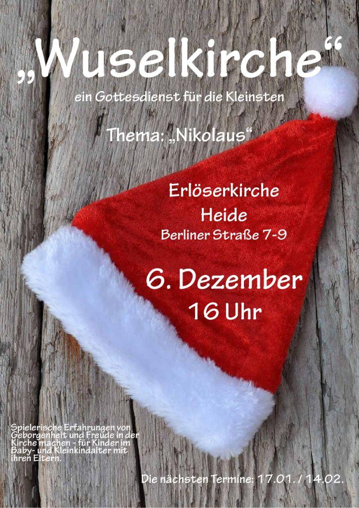 Wuselkirche im Dezember