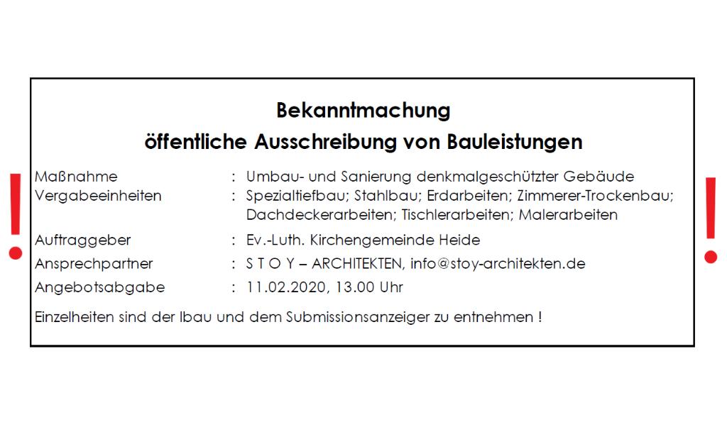 """Ausschreibung """"Neue Mitte"""""""