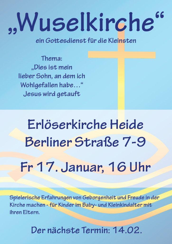 Wuselkirche am 17. Januar