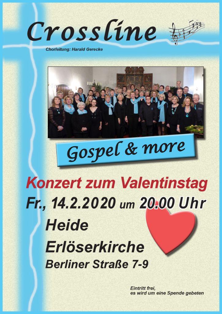 Crossline Konzert zum Valentinstag