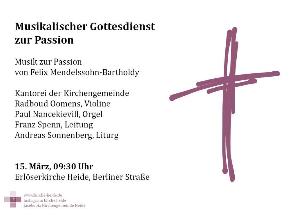 Plakat zum musikalischen Gottesdienst