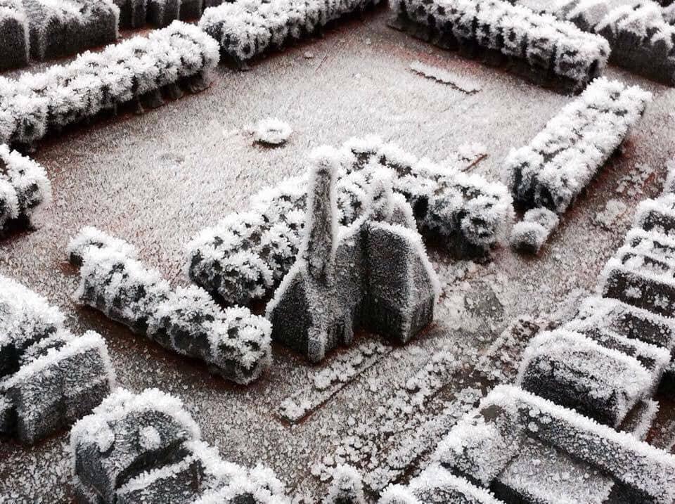 Vereiste Miniatur von St. Jürgen