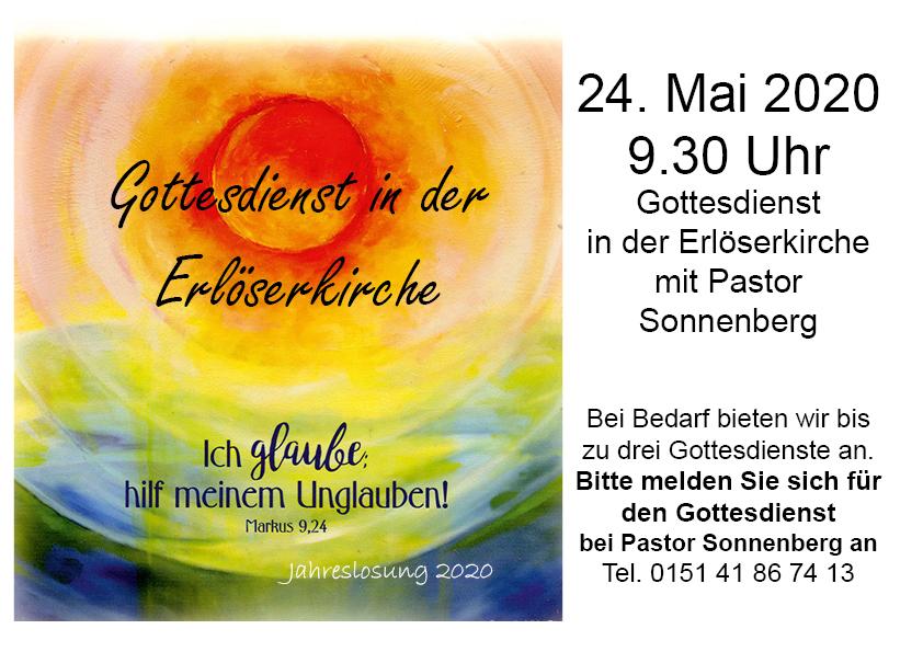 Gottesdienst So 24. Mai