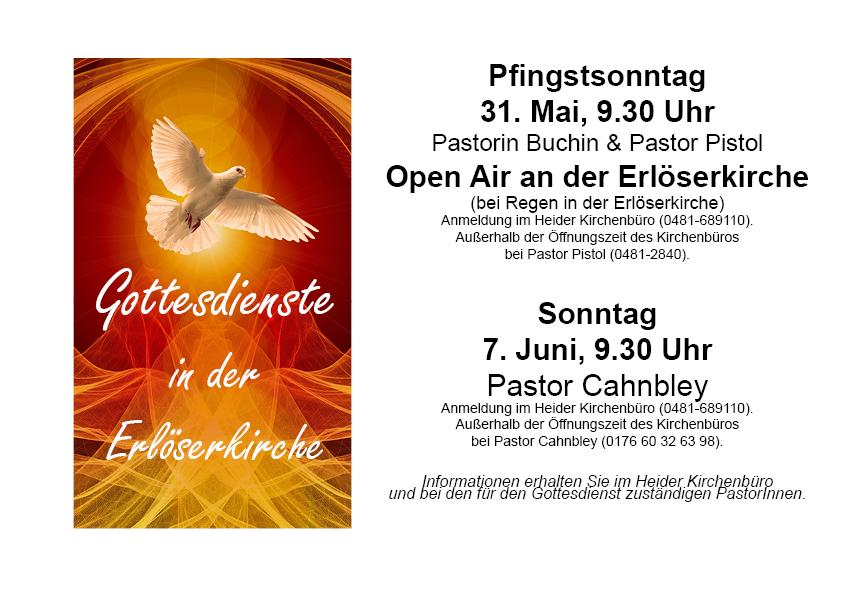 Gottesdienste in der Erlöserkirche