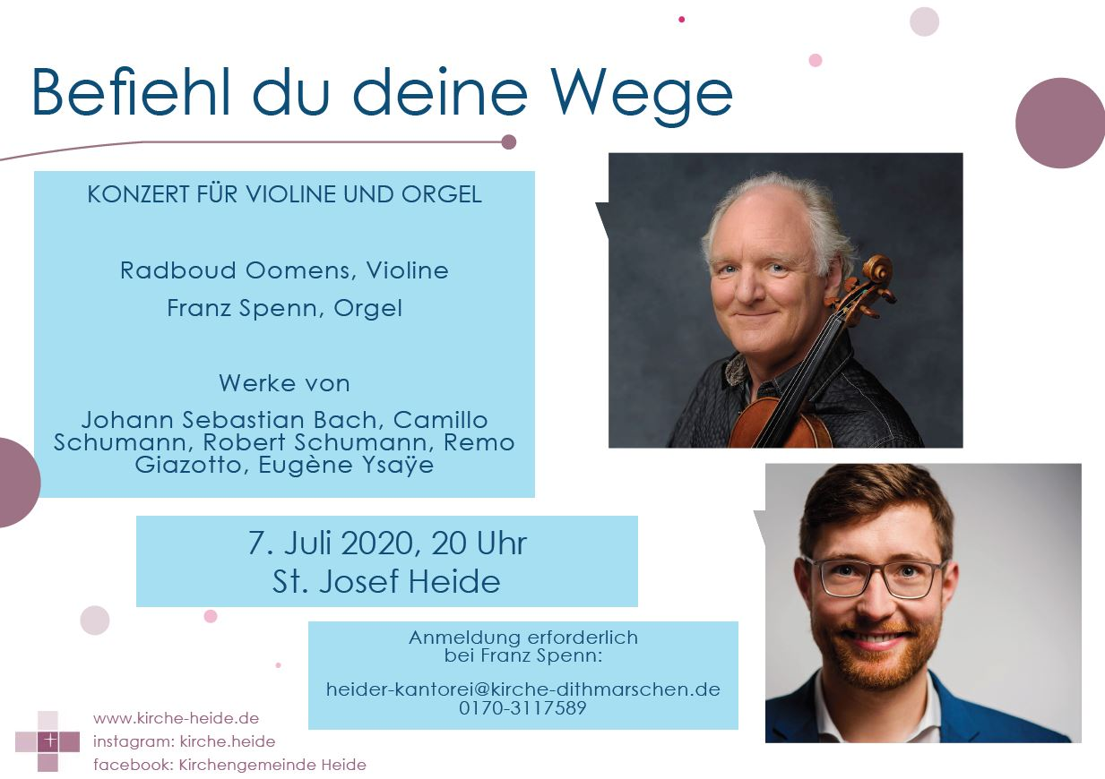 Konzertplakat Violine Orgel
