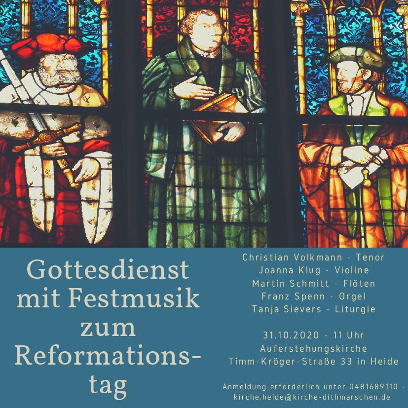 Musikalischer Gottesdienst zum Reformationstag