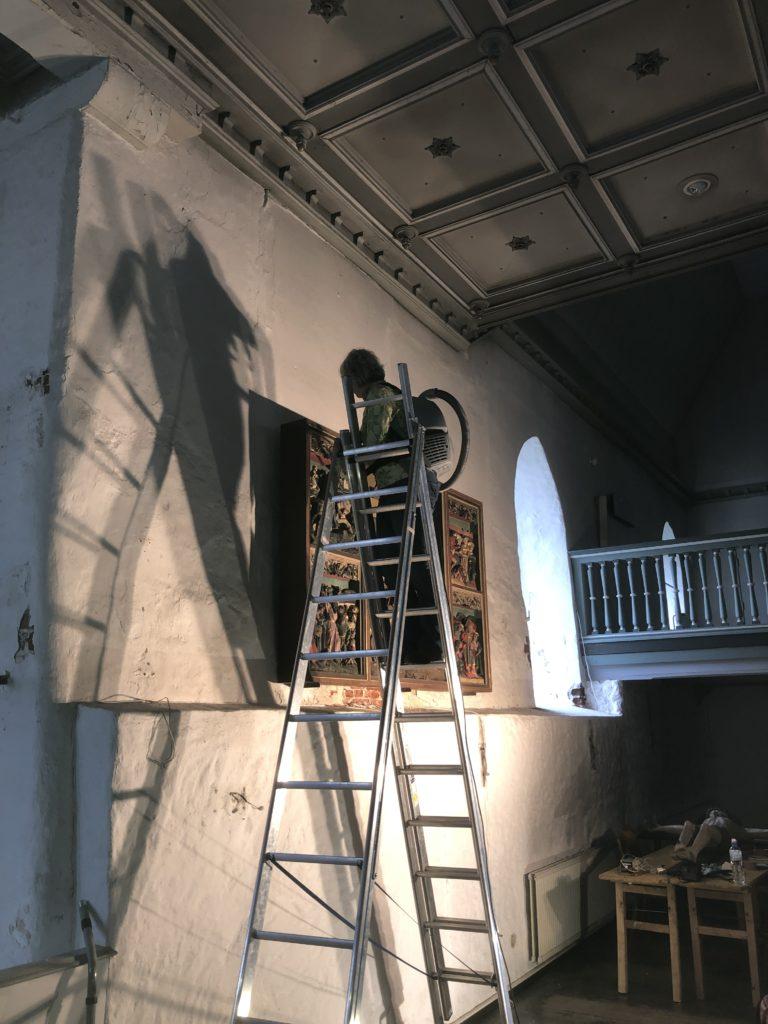 Abbau der Gemälde