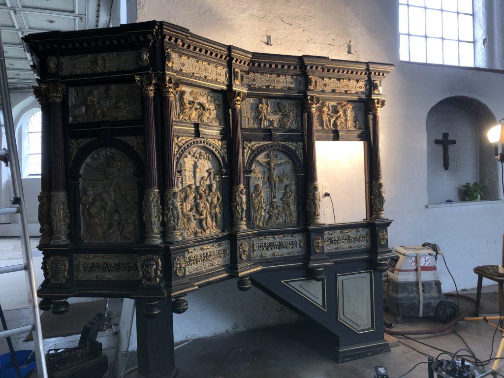 Abbau der Kanzel an St. Jürgen