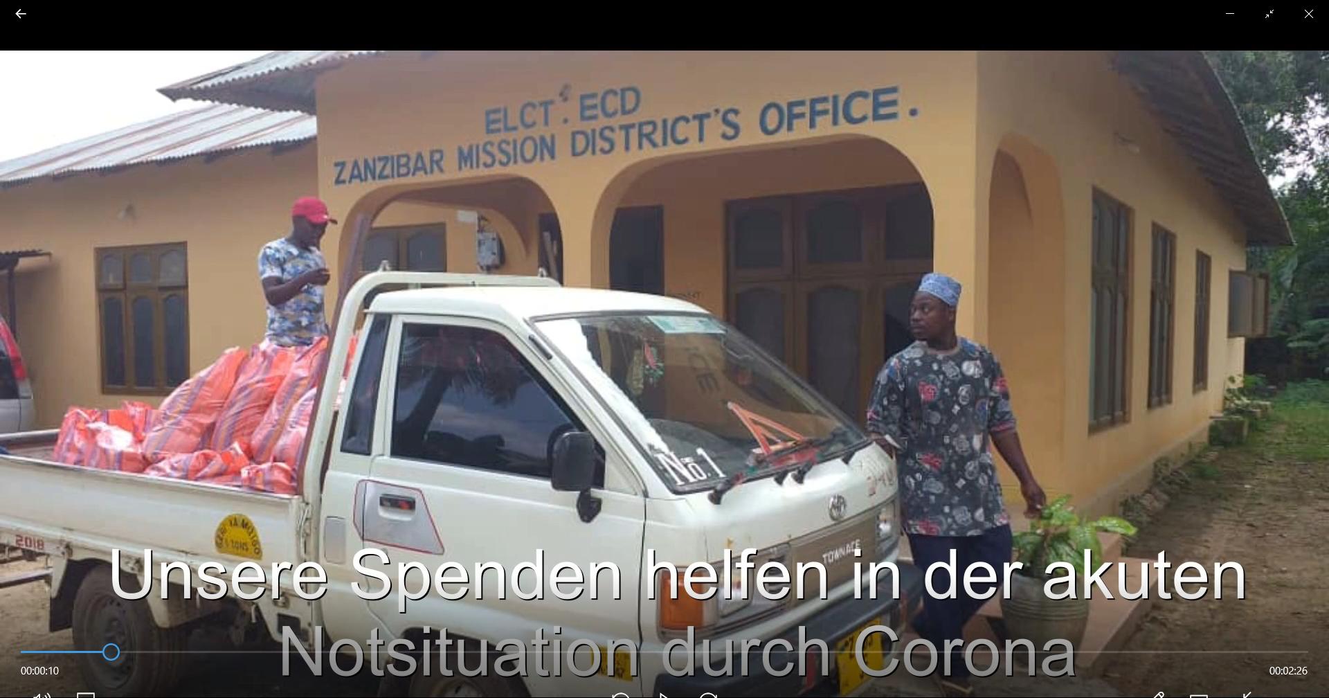Corona-Nothilfe für Zanzibar